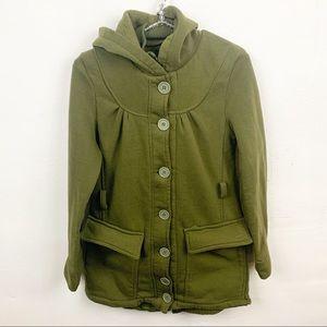 Rue 21 l Army Green Button Down Pea Coat